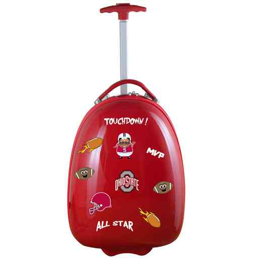 CLOSL601-RED: NCAA Ohio State University Buckeyes Kids Luggage Red